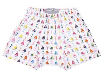 Boat and Anchor Boxer Shorts back
